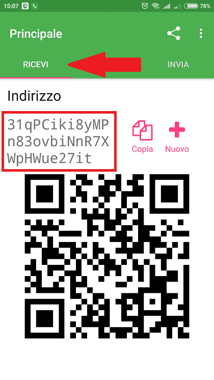bitcoin wallet in italiano